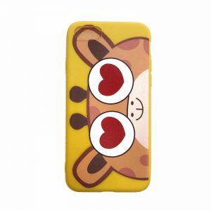 Силиконовый чехол Cute Love Giraffe для Iphone 7 / 8 / SE (2020) – Желтый