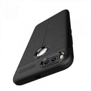 TPU чехол фактурный (с имитацией кожи) для Xiaomi Mi 5x / Mi A1 – Black