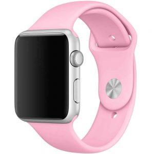 Ремешок силиконовый для Apple Watch 38 mm / 40 mm №35 – Pink