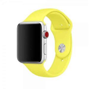 Ремешок силиконовый для Apple Watch 42 mm / 44 mm №38 – Lime