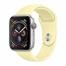Ремешок силиконовый для Apple Watch 42 mm / 44 mm №43 – Milk Yellow