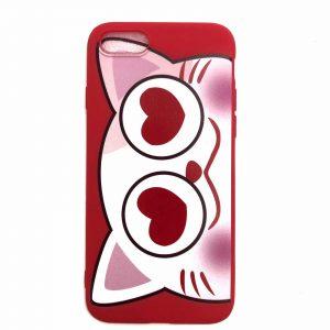 Силиконовый чехол Cute Love Cat для Iphone 7 / 8 / SE (2020) – Красный