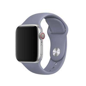 Ремешок силиконовый для Apple Watch 42 mm / 44 mm №45 – Lavender Grey