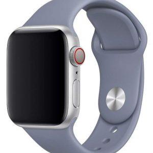 Ремешок силиконовый для Apple Watch 38 mm / 40 mm №45 – Lavender Grey