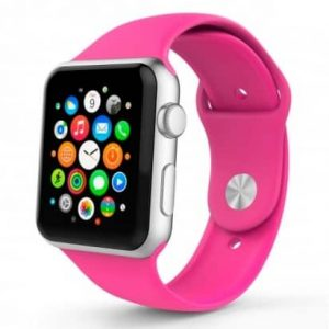Ремешок силиконовый для Apple Watch 42 mm / 44 mm №47 – Ultra Pink