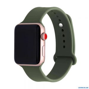 Ремешок силиконовый для Apple Watch 42 mm / 44 mm №48 – Khaki