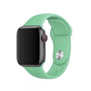 Ремешок силиконовый для Apple Watch 38 mm / 40 mm / SE 40 mm №50 – New Mint