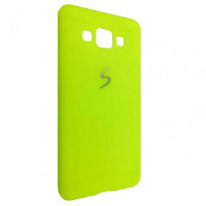 Силиконовый TPU чехол (накладка) с логотипом для Samsung Galaxy A5 2015 (A500) – Light green