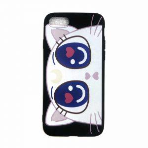 Силиконовый чехол Cute Sailor Moon Cat для Iphone 7 / 8 / SE (2020) – Черный