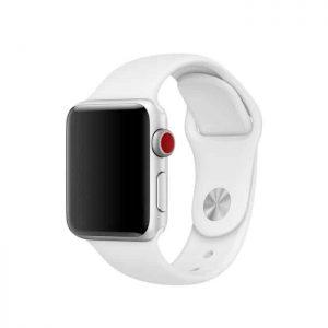 Ремешок силиконовый для Apple Watch 38 mm / 40 mm / SE 40 mm №6 – White