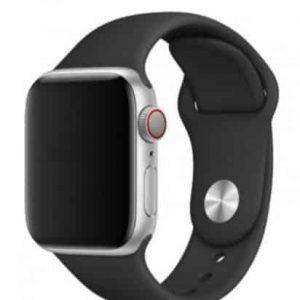 Ремешок силиконовый для Apple Watch 38 mm / 40 mm / SE 40 mm №37 – Dark Grey