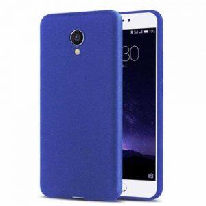 Матовый силиконовый TPU чехол для Meizu M5s – Blue