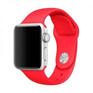 Ремешок силиконовый для Apple Watch 38 mm / 40 mm №5 – Red
