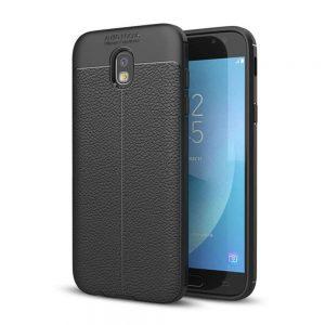 TPU чехол фактурный (с имитацией кожи) для Samsung Galaxy J3 2017 (J330) – Black