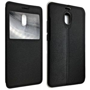 Кожаный чехол-книжка Flip Cover Stitched для Meizu M6 Note – Black
