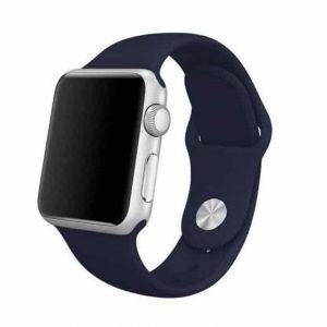 Ремешок силиконовый для Apple Watch 38 mm / SE 40 mm №9 – Navy Blue