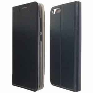 Кожаный чехол-книжка SMART для Xiaomi Mi 6 – Black