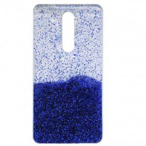 Cиликоновый чехол с блестками Fashion для Xiaomi Redmi 8 / 8A – Blue