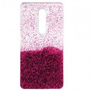 Cиликоновый чехол с блестками Fashion для Xiaomi Redmi 8 / 8A – Pink