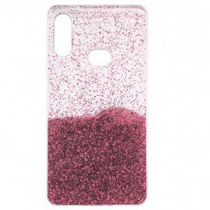 Cиликоновый чехол с блестками Fashion для Samsung Galaxy A10s 2019 (A107) – Light pink