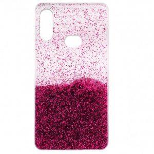 Cиликоновый чехол с блестками Fashion для Samsung Galaxy A10s 2019 (A107) – Pink