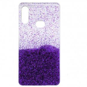 Cиликоновый чехол с блестками Fashion для Samsung Galaxy A10s 2019 (A107) – Violet