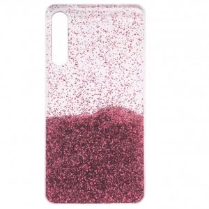 Cиликоновый чехол с блестками Fashion для Samsung Galaxy A50 / A30s 2019 – Light pink