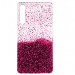 Cиликоновый чехол с блестками Fashion для Samsung Galaxy A50 / A30s 2019 – Pink