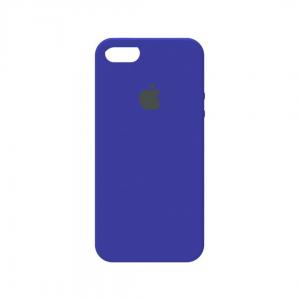Оригинальный чехол Silicone Case с микрофиброй для Iphone 5 / 5s / 5c /SE №44 – Ultra Blue