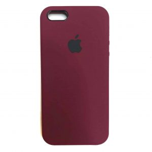 Оригинальный чехол Silicone Case с микрофиброй для Iphone 5 / 5s / 5c /SE №46 – Marsala