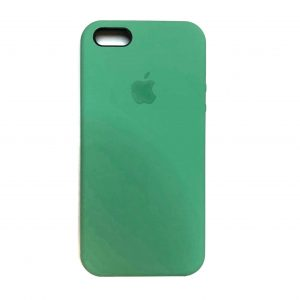 Оригинальный чехол Silicone Case с микрофиброй для Iphone 5 / 5s / 5c /SE №50 – New Mint