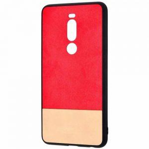 Чехол TPU+PC New Textile Case для Meizu X8 – Red beige
