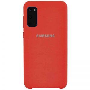 Оригинальный чехол Silicone Case с микрофиброй для Samsung Galaxy S20 – Красный / Red