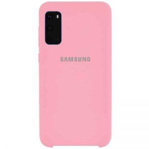 Оригинальный чехол Silicone Case с микрофиброй для Samsung Galaxy S20 – Розовый / Pink