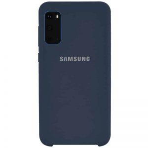 Оригинальный чехол Silicone Case с микрофиброй для Samsung Galaxy S20 – Синий / Midnight Blue