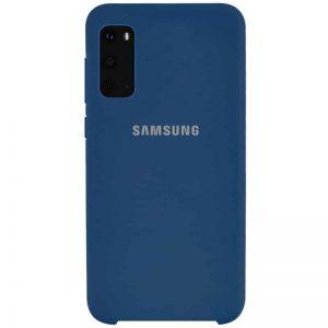 Оригинальный чехол Silicone Case с микрофиброй для Samsung Galaxy S20 – Синий / Navy Blue