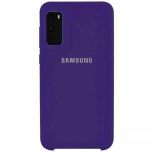 Оригинальный чехол Silicone Case с микрофиброй для Samsung Galaxy S20 – Фиолетовый / Purple