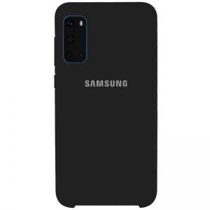 Оригинальный чехол Silicone Case с микрофиброй для Samsung Galaxy S20 – Черный / Black