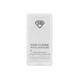 Защитное стекло 5D Full Glue Cover Glass на весь экран для Huawei P20 Lite – White