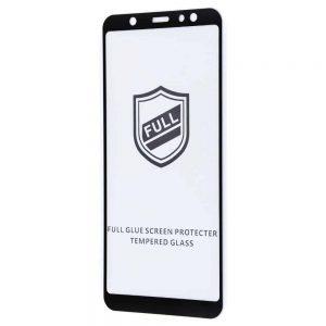 Защитное стекло 3D (5D) Perfect Glass Full Glue на весь экран для Samsung Galaxy A6 Plus 2018 (A605) — Black