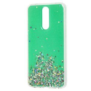 Cиликоновый чехол с блестками Shine Glitter для Xiaomi Redmi 8 / 8A – Green
