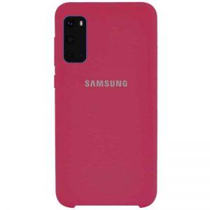 Оригинальный чехол Silicone Case с микрофиброй для Samsung Galaxy S20 – Красный / Rose Red