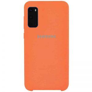 Оригинальный чехол Silicone Case с микрофиброй для Samsung Galaxy S20 – Оранжевый / Orange