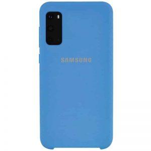 Оригинальный чехол Silicone Case с микрофиброй для Samsung Galaxy S20 – Синий / Blue
