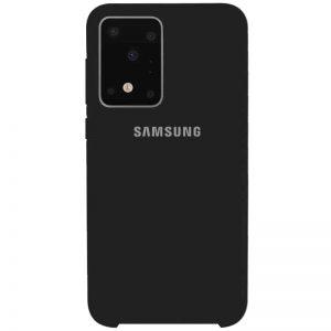 Оригинальный чехол Silicone Case с микрофиброй для Samsung Galaxy S20 Ultra – Черный / Black