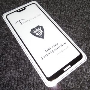 Защитное стекло 3D (5D) Tempered Glass Full Glue Cover на весь экран для Nokia 6.1 Plus / Nokia X6 – Black