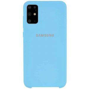 Оригинальный чехол Silicone Case с микрофиброй для Samsung Galaxy S20 Plus – Бирюзовый / Light blue
