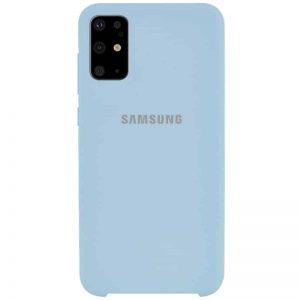 Оригинальный чехол Silicone Case с микрофиброй для Samsung Galaxy S20 Plus – Голубой / Lilac Blue