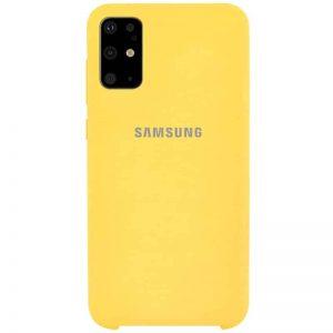 Оригинальный чехол Silicone Case с микрофиброй для Samsung Galaxy S20 Plus – Желтый / Yellow