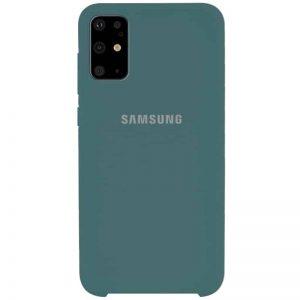 Оригинальный чехол Silicone Case с микрофиброй для Samsung Galaxy S20 Plus – Зеленый / Pine green